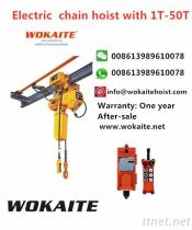 Electric chain hoist with 1T