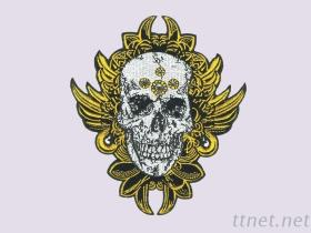 Skull Sticker Pack, Embroidery Patches with Rhinestone