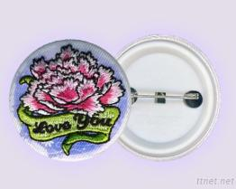 Embroidery Botton Badge + Sublimation