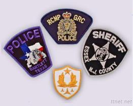 경찰 자수 헝겊 조각
