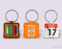 Funny APP Embroidered Keychains