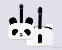 Panda Embroidered Luggage Tag