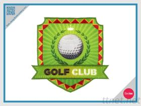 Embroidery+Sublimationパッチ、紋章のゴルフクラブ