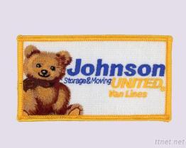 ジョンソンはくまと100%刺繍されたバッジを結合した