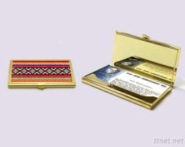 Custom Business Card Holder - Gold Plated - Taiwan Aboriginal Art