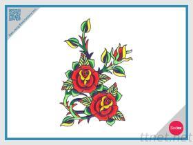 刺繍の紋章ローズ