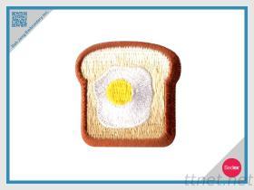 刺繍パッチ-卵のトーストの棒