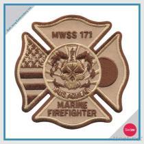 불 자수 헝겊 조각 - MWSS 171 해병 소방수