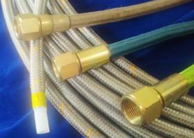 03 - Tubo flessibile tessuto legare dell'acciaio inossidabile di PTFE