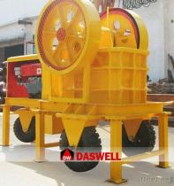 Mini trituradora de piedra móvil ampliamente utilizada del motor diesel