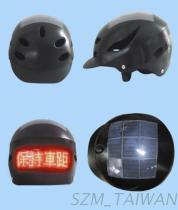 De Helm van de fiets met Zonne Aangedreven LEIDENE Vertoning