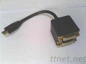 HDMI al cavo del divisore 2*DVI