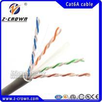 Solido del gatto 6A CM/CMP incagliato intorno al cavo di Ethernet del modulo