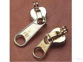 鍵穴のジッパーのスライダー