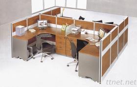 Het Werkstation van het bureau voor 4 Personeelsleden