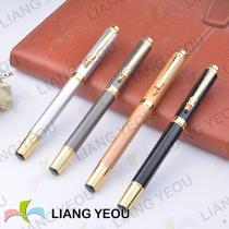 Metallic Rollerball Pen,Personalized Metal Fountain Pens, Creative Multicolor Advertising Pen With Water-Based Ink