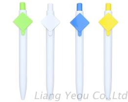 Plastic Ball Pen with Big Clip can Printing Company QR Code