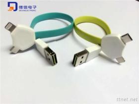 Cavo del USB del telefono mobile per il iPhone, il iPad & la galassia S6 (LC-007)