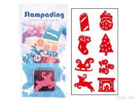 Stampading Stempel mit Tinten-Auflage, Einklebebuch