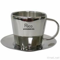Elegant Stainless Steel Coffee Mug 160ml