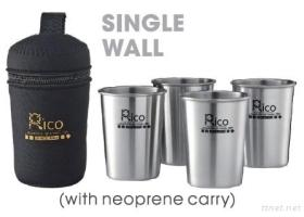 Stainless Steel Cup Sets With Neoprene Carry