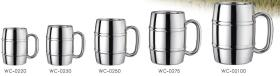 Cask Shape Double Wall Beer Mug