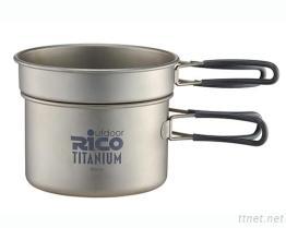 Titanium Camping Pot Set 400ml & 800ml
