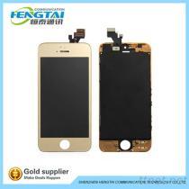affissione a cristalli liquidi dorata 24Ct completa per IPhone 5S, affissione a cristalli liquidi completa della scheda madre per IPhone 5S