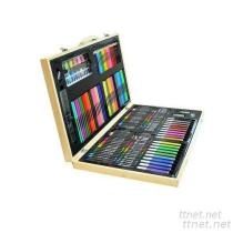 150 Pieces of Art Painting Stationery Set, Stationery, Ruler, Eraser, Pencil Sharpener, Scissors, Glue, Pencil, Colored Pencil,