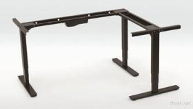 3 Motors 3 Stages L Shape Height Adjustable Desk