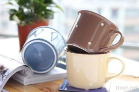 3PCS Solid Color Can Shape Mug With Roll Rim(Child-Free Series)