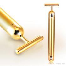 La barra de oro de la belleza 24K, maneja el Massager facial del rodillo de la piel del cuidado personal