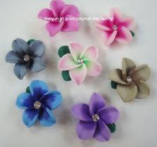 Acessório da jóia da flor da argila do polímero da forma