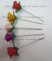 Vário Pin de Hijab da flor da argila do polímero dos projetos