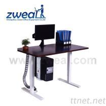 독점적인 사무용 가구 책상 제조자, 고도 조정가능한 상승 테이블 금속 구조
