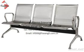 Stainless Steel Gang Chair, Station Terminal Waiting Chair, Public Seating
