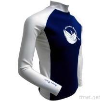 Barco men's KN0614 (PBT) recycled fabrics long sleeve rash guard