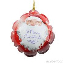 풍선 또는 자동 팽창식 풍선을 팽창시켜 즐거운 성탄 각자