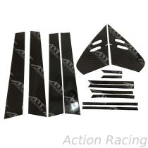 Action Racing, TOYOTA PRIUS HYBIRD 2018 B C Pillars set Car Door & Windows Moldings