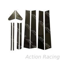 Action Racing, TOYOTA RAV4 14-17 B C Pillars set Car Door & Windows Moldings