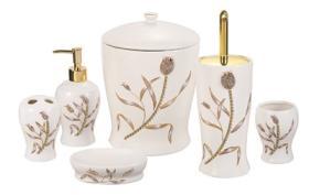 6PCS Tulip Ceramic Bathroom Set