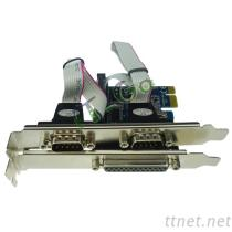 2 Serial 1 Parallel Port PCI Express Card