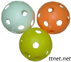 Plastikkugel mit Löchern