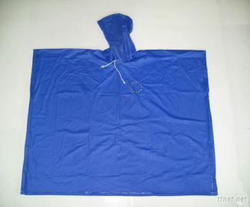 blue adult pvc rain poncho
