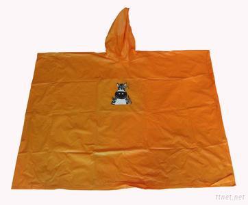 orange children pvc raincoat