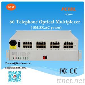 PCM Mux 30 Channel Telephone Fiber Optical Mutiplexer