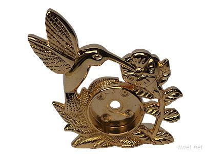 Metal Handcraft Carving Bird Painting Gold