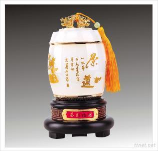Metal Craft Tea Pot Gift Carving China Fu