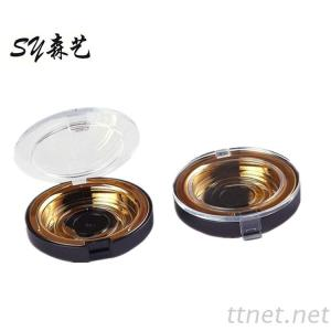 Waterproof Airtightness Round Gold Single Eyeshadow Case blusher Powder Containers for Makeup