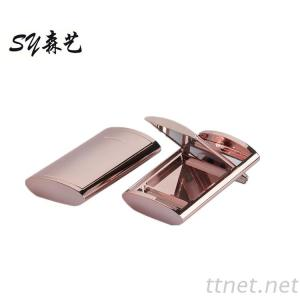 Rose Gold Eyeshadow Case Empty Compact Powder Case Single Blusher Container Rose Gold Eyeshadow Packaging Case